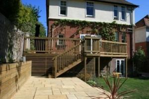 Timber decking design Poole